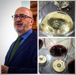 Antonio Virando apresenta os vinhos da Tasca d'Almerita.